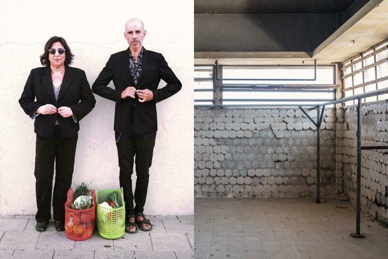 הופעה בשוק תלפיות: אלי לולאי (רוקפור) עם האמנית אורית חסון ולדר